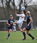 Cassie Burke goes for a header.