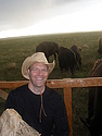 Hanging out with the bison