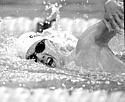 Andy Hardt '13, pictured above during a meet last season, earned Swimmer of the Meet honors on Saturday after setting three season-best times.