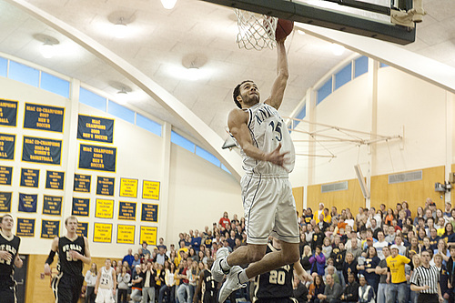 Jeremy Sutherland, Men's Basketball action