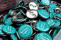 Pins distributed at the SpeakUp event.