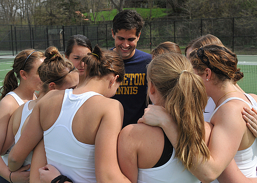 Women's Tennis Team with Head Coach Luciano Battaglini