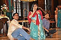Raghav Chandra '14, Sonali Gupta '12 and Nikhil Pandey '15 as Ram-Sita-Laxman