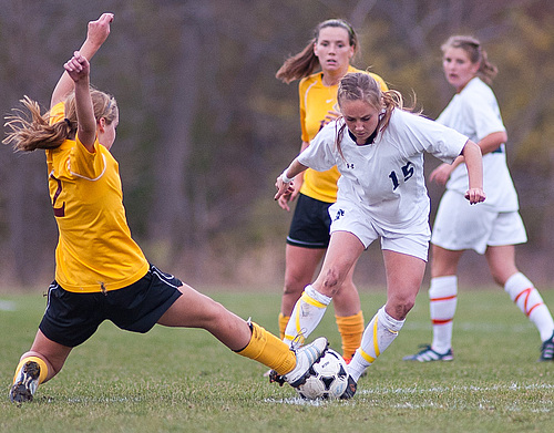 Sarah Hagerty, women's soccer action