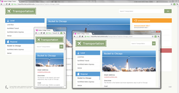 Responsive Layouts (Transportation site)