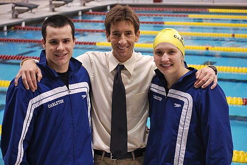 Eric Klontz, Andy Clark, Sophie Pilhofer, swimming