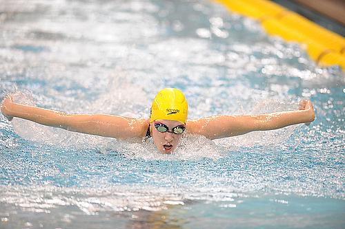 , women's swimming action