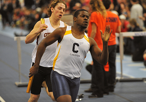 Jordan Butler, men's track & field action