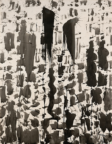 Mark Tobey ink drawing