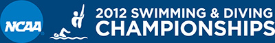 2012 NCAA Swimming & Diving Championships Logo (banner)