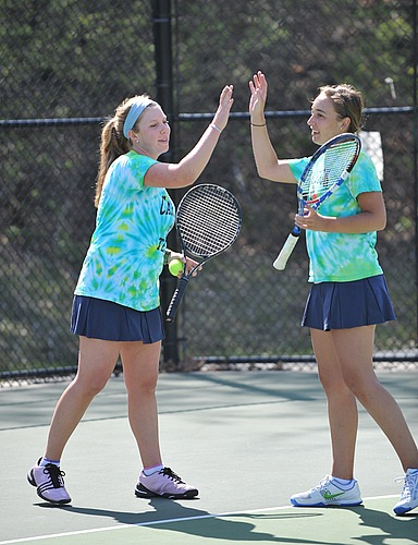 Katherine Greenberg, Molly Hemes, Women's Tennis action
