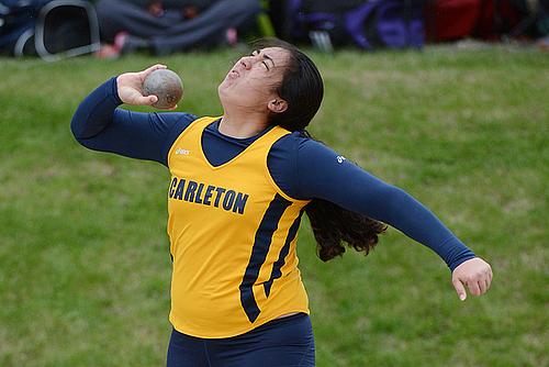 Kao Sutton, women's track & field action