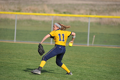 Kelsey Parsons, Softball Action, Carleton College