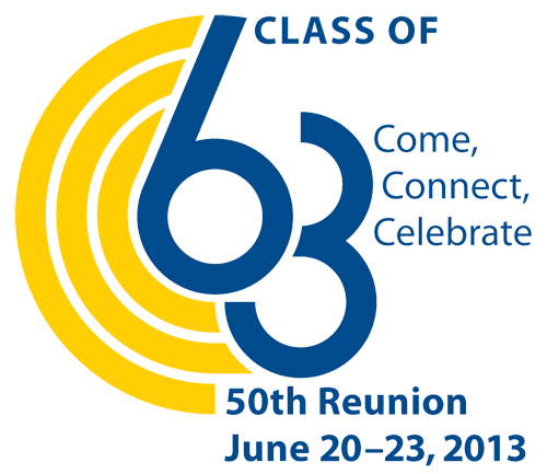 Class Reunion Logo class of 1963 50th reunion giving carleton college