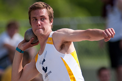 Dylan Cheever, men's track and field action