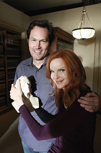 Schiller with Bob Daily '82 and Desperate Housewives' Marcia Cross