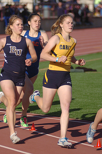 Megan Erlandson, women's track & field action