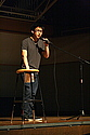 Chris Wong '14 introducing comedian Hari Kondabolu (Fall 2011)