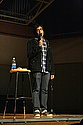 Comedian Hari Kondabolu performing in the Concert Hall (Fall 2011)