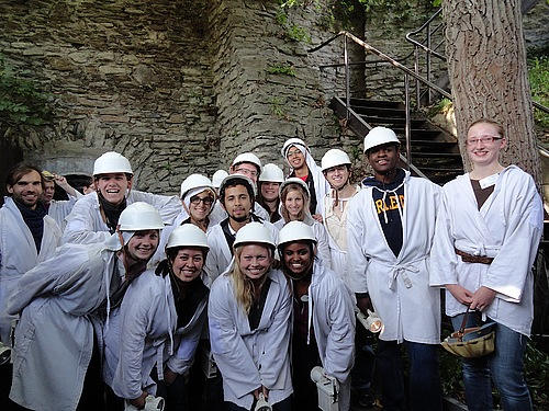 Group Pic at the Mine