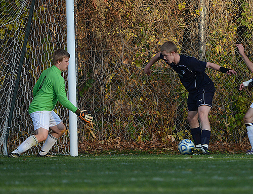 Brendan McGarrity, men's soccer action (lo-res)