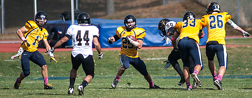 Mike Elder, football action
