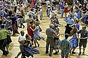 Contra dancing at the Northfield Armory