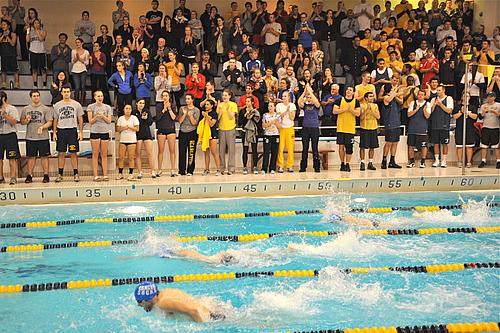Ted Mullin Leave It In The Pool Hour Of Power Relay Swim Set Varsity Athletics Carleton