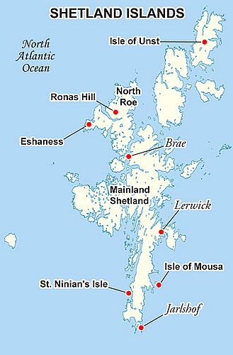 Detailed Map Of Shetland Islands