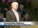 A placard image for media work Opening Convocation: Mark Dayton