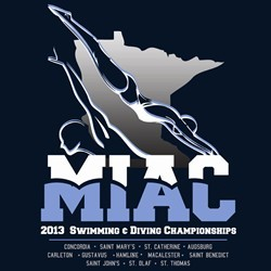 MIAC 2013 Swimming & Diving Championships logo