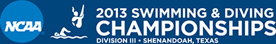 NCAA 2013 Swimming & Diving Championships logo (horizontal)