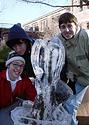 Ice sculpting contest.