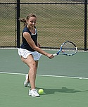 Molly Hemes, Women's Tennis action