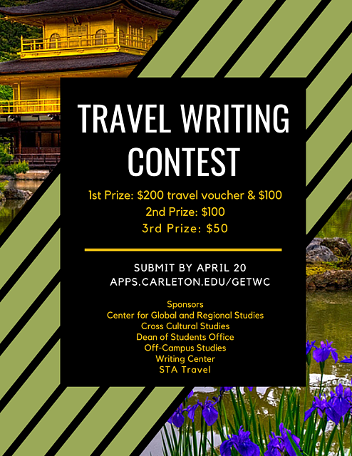 Trave Writing Contest Poster