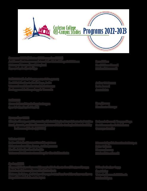 Uga Calendar 2022 2023.2022 2023 Ocs Programs Announced Off Campus Studies Carleton College