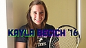 A placard image for media work Student-Athlete Profile: Kayla Becich '16