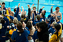 Knights Cheer before the start of the St. Olaf Dual Meet
