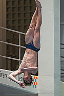 Eric Brenner dives at the National Championships
