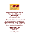 University of MN Law School Announcement