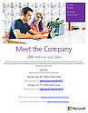 Microsoft Webinar - Meet the Company