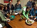 Students in Firebellies gather to share varied dishes at six different stops.