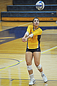 Camille Benson '16 and the Knights won a trio of matches at West Gym on Saturday.