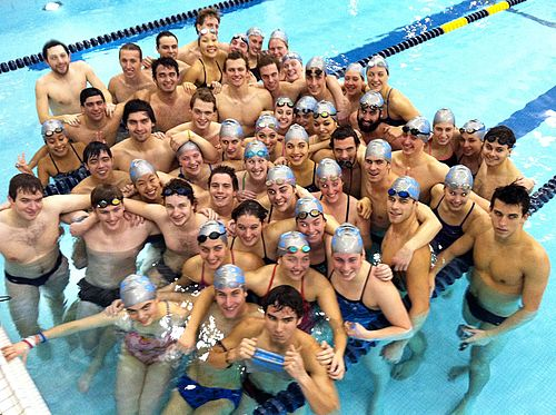 Carleton College swimmers after the HoP 2013!