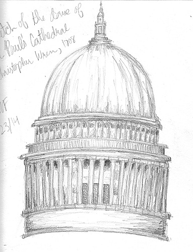 St pauls cathedral london sketch
