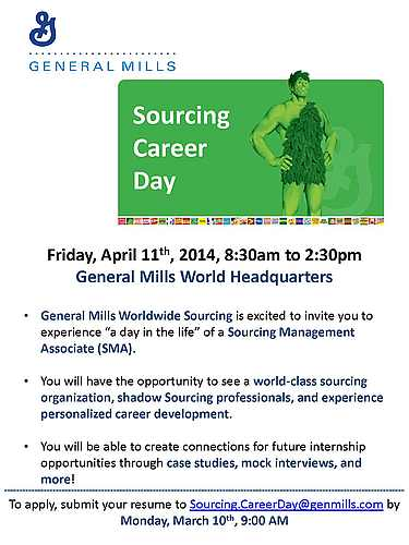 Career Day Application General Mills Sourcing Career Day Application Deadline