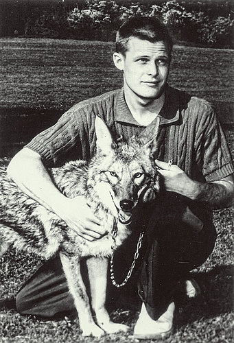 Dante Stephensen '58 with coyote