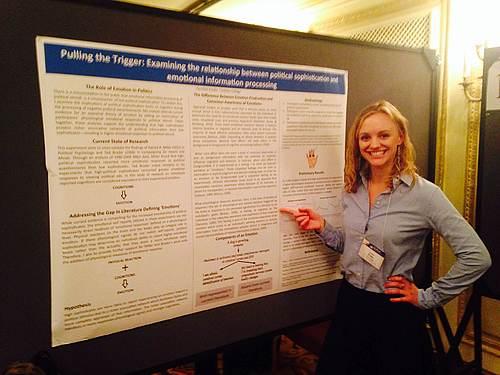 Caroline Kryder '14 presenting poster at MPSA | Political Science ...