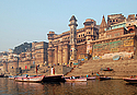 Varanasi's ancient ghats lining the Ganges River
