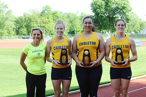 Donna Ricks, Colette Celichowski, Kao Sutton, Amelia Campbell, women's track and field action